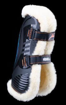 eQuick eShock Front Fluffy Faux Sheepskin with Velcro Tendon Boots