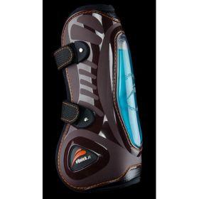 eQuick eShock Front Velcro Tendon Boots Brown - Equsani eQuick