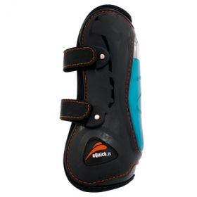 eQuick eShock Front Velcro Tendon Boots Black - Equsani eQuick