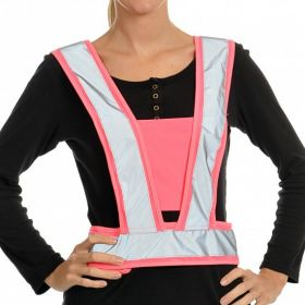 Equisafety Hi Vis Harness Childs  Fluorescent Pink - Equisafety
