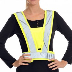 Equisafety Hi Vis Harness Adults  Fluorescent Yellow - Equisafety