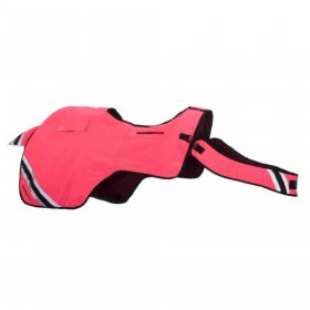 Equisafety Winter Wrap Around Exercise Rug Fluorescent Pink