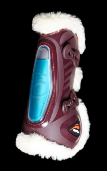 eQuick eShock Front Fluffy Tendon Boots with Faux Fur Brown