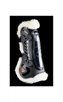 eQuick eshock Legend Front Fluffy Tendon Boots with Faux Fur Black - Equsani eQuick