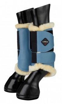 LeMieux Fleece Lined Brushing Boots - Limited Edition Ice Blue
