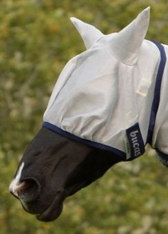 Bucas Freedom Fly Mask  Silver