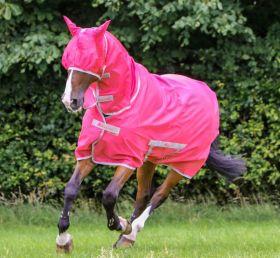 Bucas Freedom Fly Sheet Full Neck Pony Sizes 3'6 to 5'3 Paradise Pink