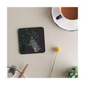 Deckled Edge Melamine Coasters - The Fresian - Deckled Edge