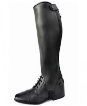Mark Todd  Competition Leather Gaiters Black X Large Tall - Clearance