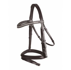 GFS Crystal Flash Bridle Havana