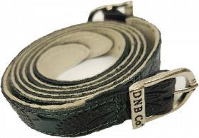De Niro Spur Straps - Greta Leather  Green