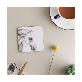 Deckled Edge Melamine Coasters - Fleabitten Grey - Deckled Edge