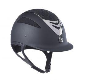 One K Defender Air Glitter Riding Helmet Black