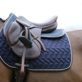 Kentucky Horsewear Anatomic Absorb Half Pad - Navy