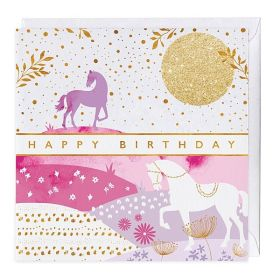 The Pink Selection Happy Birthday Card - Golden Sun