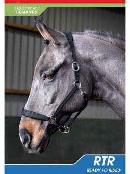 John Whitaker Ready to Ride Headcollar-Pony-Black Clearance