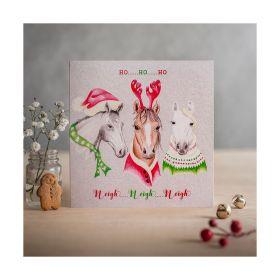 Deckled Edge Christmas Card Ho Ho Ho