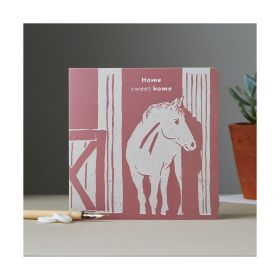 Deckled Edge Colour Block Pony Card - Home Sweet Home