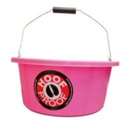 Hoof Proof Shallow Feeder/Multi Purpose Bucket 15ltr Pink