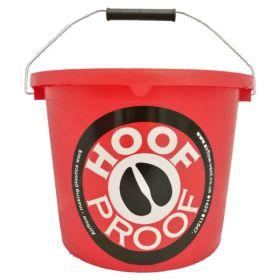 Hoof Proof Heavy Duty Multi Purpose Bucket 15ltr Red