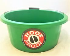 Hoof Proof Shallow Feeder/Multi Purpose Bucket 15ltr Green