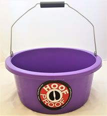 Hoof Proof Shallow Feeder/Multi Purpose Bucket 15ltr Purple