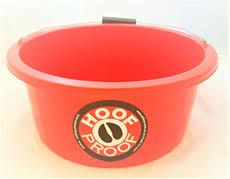 Hoof Proof Shallow Feeder/Multi Purpose Bucket 15ltr Red