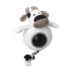 House of Paws Cow Cord Toy with Spiky Ball