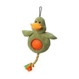 House of Paws Duck Cord Toy with Spiky Ball