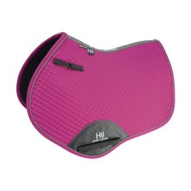 Hy Sport Active Close Contact Saddle Pad - Cobalt Pink