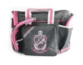 HyShine Pro Complete Grooming Bag and Brush Set  Black/Pink/Grey