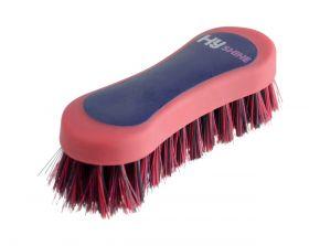 HyShine Pro Groom Face Brush Navy - Red