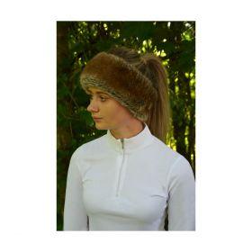 HyFASHION Idaho Fleece Lined Faux Fur Headband Tan