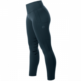 Equetech Inspire Riding Tights Petrol-Petrol-Extra Large 16-18 Clearance - Equetech