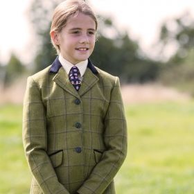 Equetech Junior Adstock Deluxe Tweed Riding Jacket-26 Chest