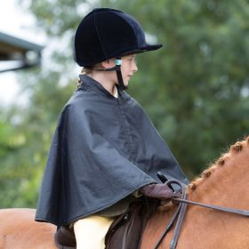 Equetech Junior Wax Showing Cape - Navy