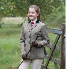 Equetech Junior Foxbury Deluxe Tweed Riding Jacket