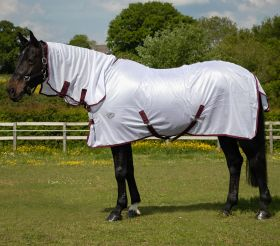 JHL Essential Fly Rug Combo White - Burgundy