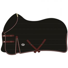 JHL Mediumweight Stable Rug Black and Burgundy
