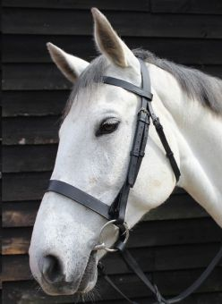 JHL Plain Cavesson Bridle Black
