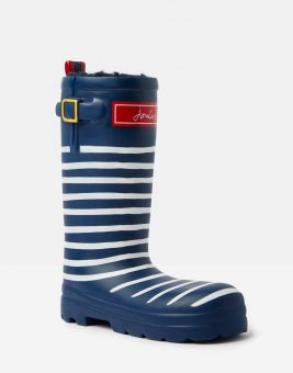 Printed Joules wellington boot - Navy Stripey Classic