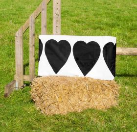 Jumpstack Bale Cover Heart Check Design - 2 Pack  Black