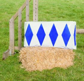 Jumpstack Bale Cover Brick Diamond Design - 2 Pack  Blue