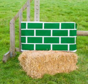 Jumpstack Bale Cover Brick Diamond Design - 2 Pack  Green