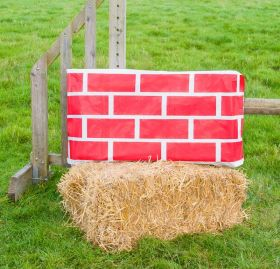 Jumpstack Bale Cover Brick Diamond Design - 2 Pack  Red