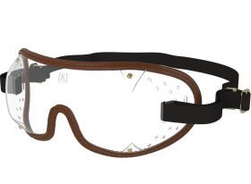 Kroops Racing Goggles - Clear Lens  Brown