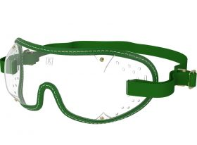 Kroops Racing Goggles - Clear Lens  Green