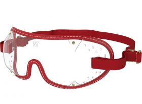 Kroops Racing Goggles - Clear Lens  Red