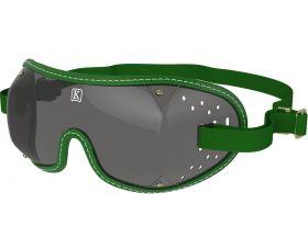 Kroops Racing Goggles - Smoked Lens  Green