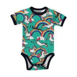 LazyOne Girls Unicorn Babygrow Vest